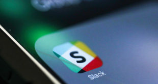 The icon for the chat service app Slack, by Slack Technologies Inc., sits on the screen of an Apple Inc. iPhone 6 smartphone in this arranged photograph in London, U.K., on Monday, Sept. 18, 2017. Slack closed a $250 million funding round led by SoftBank Group Corp.s Vision Fund, the company said Sunday. Photographer: Chris Ratcliffe/Bloomberg via Getty Images